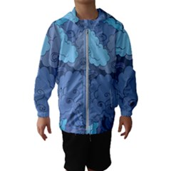 Abstract Nature 1 Hooded Wind Breaker (kids)