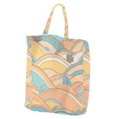 Abstract Nature 5 Giant Grocery Zipper Tote