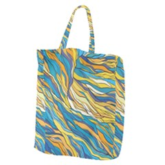 Abstract Nature 7 Giant Grocery Zipper Tote