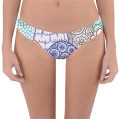 Abstract Nature 12 Reversible Hipster Bikini Bottoms