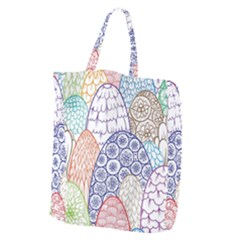 Abstract Nature 12 Giant Grocery Zipper Tote