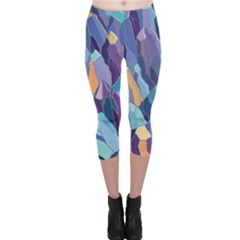 Abstract Nature 15 Capri Leggings