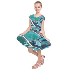 Abstract Nature 19 Kids  Short Sleeve Dress