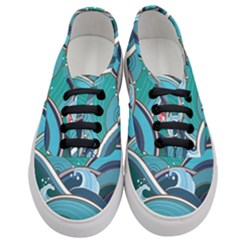 Abstract Nature 19 Women s Classic Low Top Sneakers