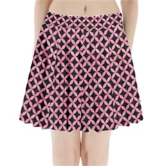 Circles3 Black Marble & Pink Watercolor (r) Pleated Mini Skirt