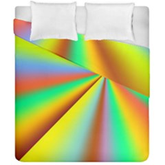 Burst Radial Shine Sunburst Sun Duvet Cover Double Side (california King Size)