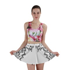Bouquet Flower Decoration Pattern Mini Skirt