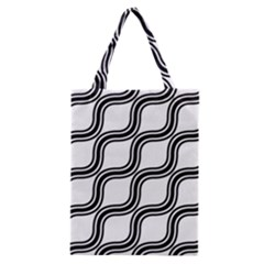 Diagonal Pattern Background Black And White Classic Tote Bag