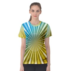 Abstract Art Art Radiation Women s Sport Mesh Tee