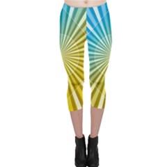 Abstract Art Art Radiation Capri Leggings