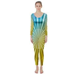 Abstract Art Art Radiation Long Sleeve Catsuit