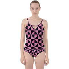 Triangle1 Black Marble & Pink Watercolor Cut Out Top Tankini Set