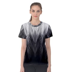 Feather Graphic Design Background Women s Sport Mesh Tee