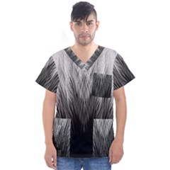 Feather Graphic Design Background Men s V Neck Scrub Top