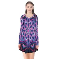 Mandala Circular Pattern Flare Dress