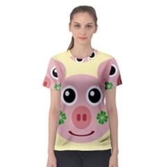 Luck Lucky Pig Pig Lucky Charm Women s Sport Mesh Tee