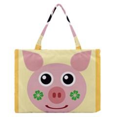 Luck Lucky Pig Pig Lucky Charm Zipper Medium Tote Bag