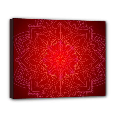 Mandala Ornament Floral Pattern Deluxe Canvas 20  X 16