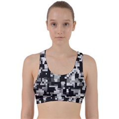 Noise Texture Graphics Generated Back Weave Sports Bra