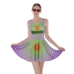 Art Digital Fractal Spiral Spin Skater Dress