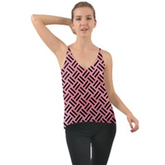 Woven2 Black Marble & Pink Watercolor Cami