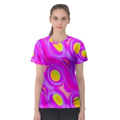 Noise Texture Graphics Generated Women s Sport Mesh Tee