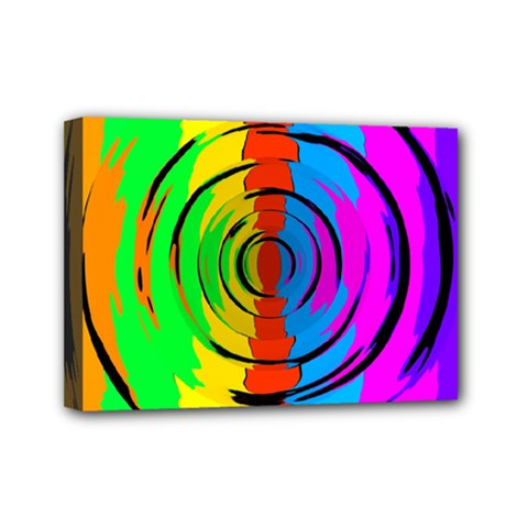Pattern Colorful Glass Distortion Mini Canvas 7  X 5