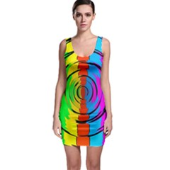 Pattern Colorful Glass Distortion Bodycon Dress