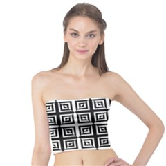 Seamless Pattern Background Black And White Tube Top