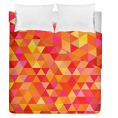 Triangle Tile Mosaic Pattern Duvet Cover Double Side (queen Size)