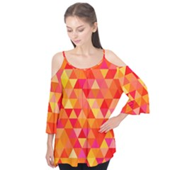 Triangle Tile Mosaic Pattern Flutter Tees