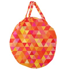 Triangle Tile Mosaic Pattern Giant Round Zipper Tote