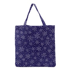 Snowflakes Pattern Grocery Tote Bag