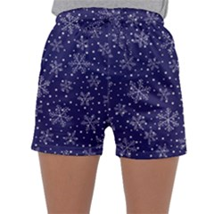 Snowflakes Pattern Sleepwear Shorts