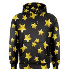 Yellow Stars Pattern Men s Pullover Hoodie