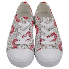 Stamping Pattern Fashion Background Kids  Low Top Canvas Sneakers