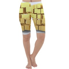 Gold Bars Feingold Bank Cropped Leggings