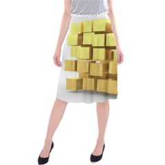 Gold Bars Feingold Bank Midi Beach Skirt