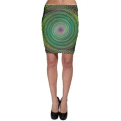 Wire Woven Vector Graphic Bodycon Skirt