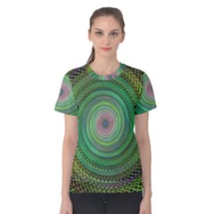 Wire Woven Vector Graphic Women s Cotton Tee