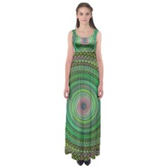 Wire Woven Vector Graphic Empire Waist Maxi Dress