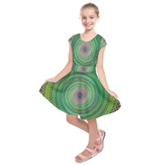 Wire Woven Vector Graphic Kids  Short Sleeve Dress