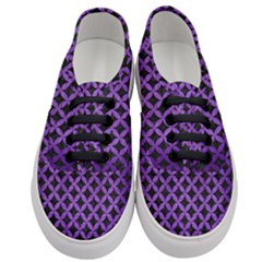Circles3 Black Marble & Purple Brushed Metal (r) Women s Classic Low Top Sneakers