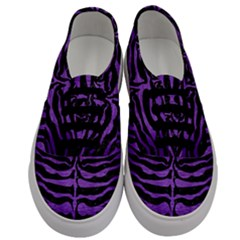 Skin2 Black Marble & Purple Brushed Metal (r) Men s Classic Low Top Sneakers