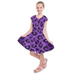 Skin5 Black Marble & Purple Brushed Metal (r) Kids  Short Sleeve Dress