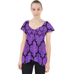 Tile1 Black Marble & Purple Brushed Metal Lace Front Dolly Top