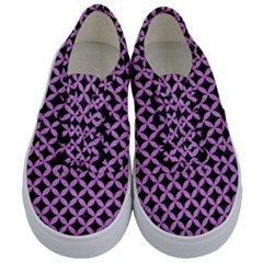 Circles3 Black Marble & Purple Colored Pencil (r) Kids  Classic Low Top Sneakers