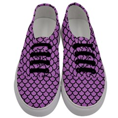 Scales1 Black Marble & Purple Colored Pencil Men s Classic Low Top Sneakers