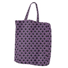Scales2 Black Marble & Purple Colored Pencil (r) Giant Grocery Zipper Tote