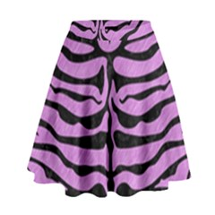 Skin2 Black Marble & Purple Colored Pencil High Waist Skirt